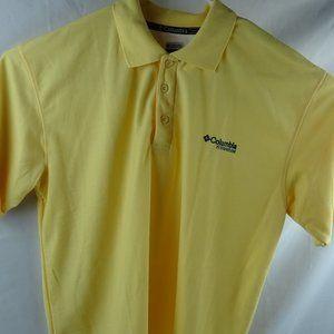 Columbia Titanium 2XL Yellow Adult Short Sleeve